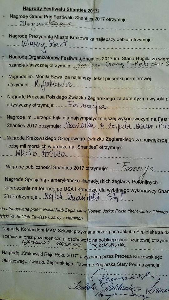 werdykt shanties 2017